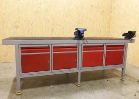 stół warsztatowy z imadłem producent RA Construction