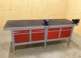 stół warsztatowy z szafkami metalowymi żywiec