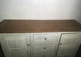kredens stylowy rustykalny biały drewniany z szufladami
