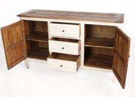 stylowa komoda z szufladami drewniana biała rustykalna