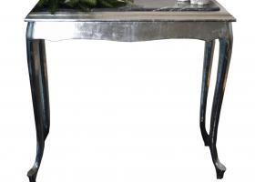 stylowa konsola barokowa z marmurem srebrna antyki24