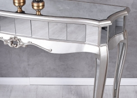 konsola glamour szklana toaletka