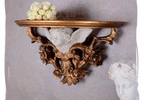 konsola w stylu barokowym wisząca półka