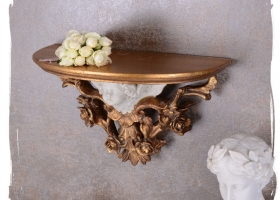 stylowa konsola wisząca ludwik barok