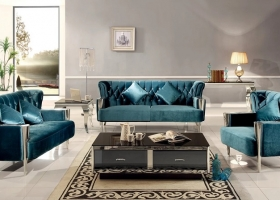 sofa nowojorska glamour pikowana 3 osobowa
