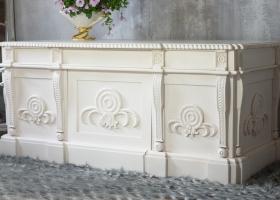 biurko gabinetowe drewniane barok
