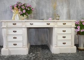 biurko stylowe barokowe białe