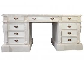 stylowe biurko gabinetowe drewniane