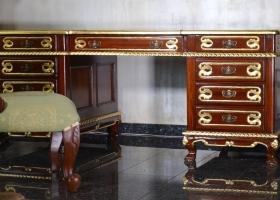 biurko klasyczne empire drewniane