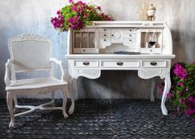 biurko stylowe białe prowansalskie