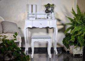 antyczne biurko retro prowansalskie białe