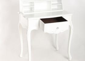 biurko prowansalskie białe z szufladą