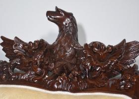 drewniany rzeźbiony orzeł barokowy