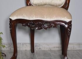 fotel ludwikowski drewniany z orłem