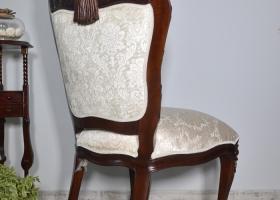 krzesło ludwik barok z rzeźbionym orłem