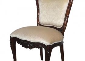 stylowy fotel rzeźbiony orzeł ludwik barok