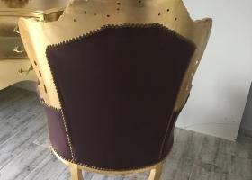 fotel barokowy złoto brązowy