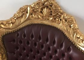 tron barokowo tapicerowany