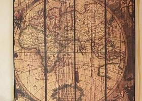 mapa vintage dekoracyjna z drewna