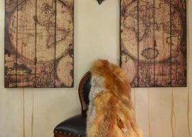 stylowy obraz mapa z drewna dekoracja salonu