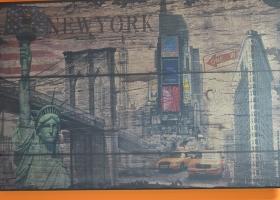 stylowy obraz retro vintage new york autobus