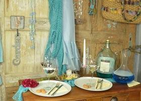 wieszak na ścianę muszla retro styl śródziemnomorski
