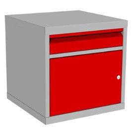 kontenerowa szafka metalowa raconstruction z szufladą i drzwiczkami