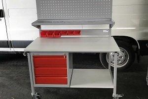 metalowe wózki montażowe do warsztatu
