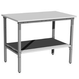 metalowy stół warsztatowy z dolną półką metalową