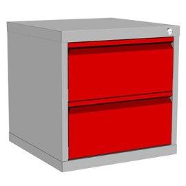 szafka kontenerowa raconstruction z 2 szufladami metalowymi