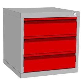szafka kontenerowa raconstruction z 3 szufladami metalowymi