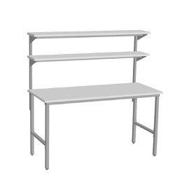 3 modułowy stół warsztatowy raconstruction z 2 półkami metalowymi