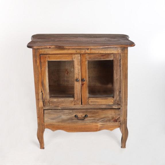 Niewiarygodnie Stylowy barek szafka rustykalna drewniana Antyki24 KW41