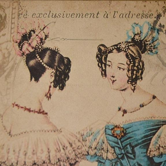 obrazek retro z damą vintage